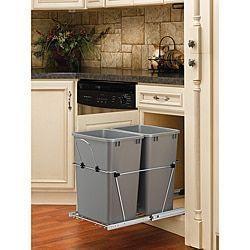 Rev-A-Shelf RV-18KD-17C S Silver Double 35-quart Waste Container | Overstock.com Shopping - The Best Deals on Kitchen & Pantry Storage #homeorganization