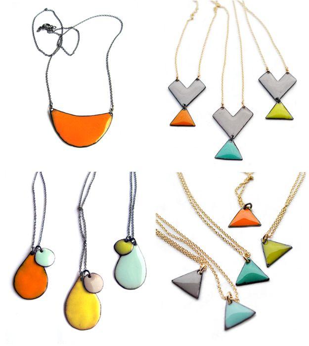 Oh beautiful! minoux jewelry: Face, Sweet Stuff, Shape, Enamel Inspiration, Enamels