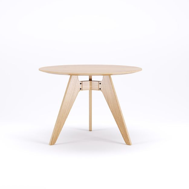 LAVITTA - ROUND TABLE 100 CM - 3-LEGGED OAK