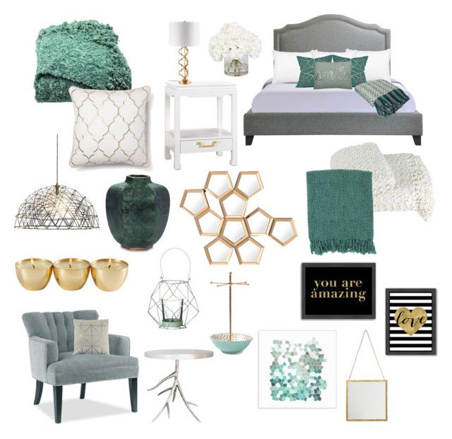 """Guest room"" by karleighrempel on Polyvore featuring interior, interiors, interior design, home, home decor, interior decorating, Americanflat, Blissliving Home, Woven Workz and Bloomingville"