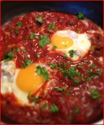 Oua cu sos de rosii in stil italian | Dieta Dukan