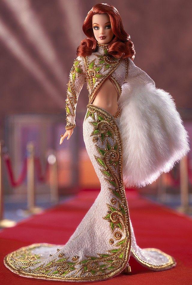 ラディアント レッドヘッド バービー ボブ・マッキー Radiant Redhead Barbie 55501 デザイナーズ Designers ボブ・マッキー Bob Mackie のバービー通販 激安の専門ショップ エクスカリバー
