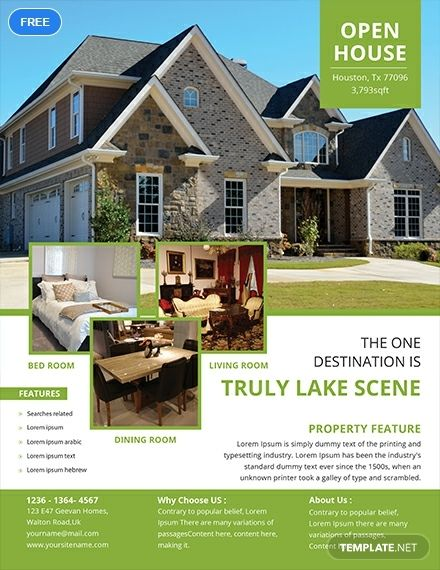 Free Open House Flyer Real Estate Marketing Flyers Pinterest