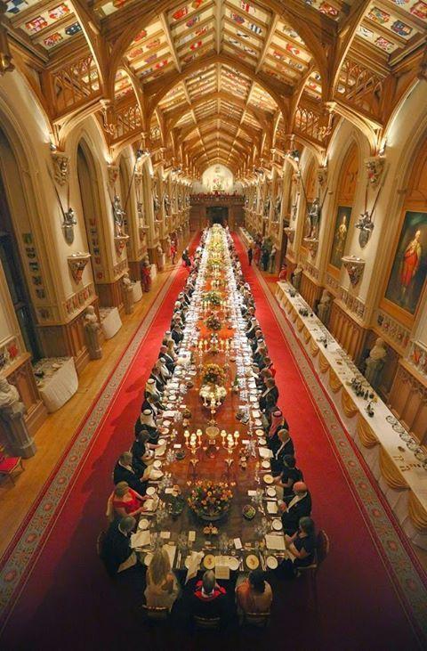 Dinner at the Windsor Castle, England...