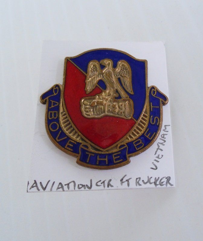 SOLD-- Aviation Center, Fort Rucker Alabama, Vietnam Time Frame Insignia Pin