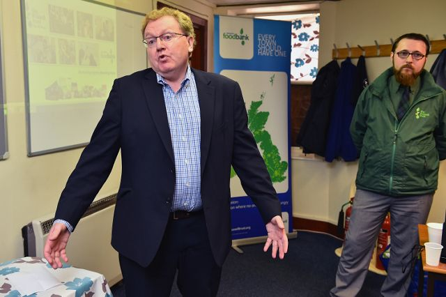 Protestors shout 'shame on you' as David Mundell launches new foodbank (From Herald Scotland)