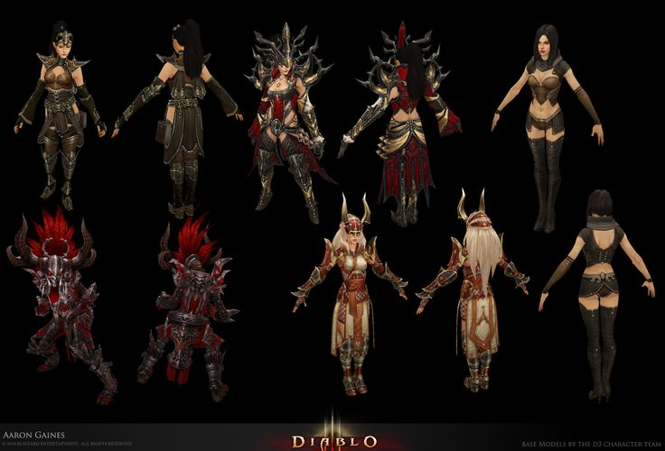 ArtStation - D3 Classes, Aaron Gaines Diablo