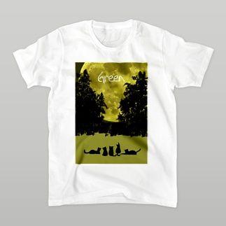Green (5cats) Tシャツ