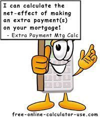 Extra Payment Mortgage Calculator to Calculate Mortgage Payoff Savings for Extra Payments.