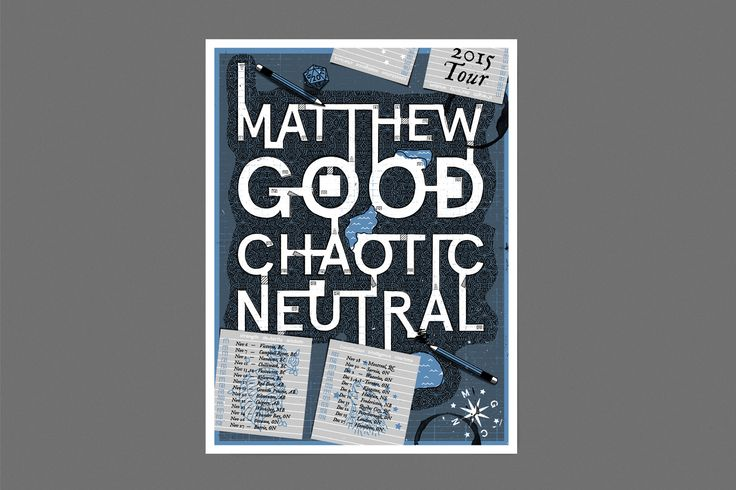 Matthew Good Chaotic Neutral Poster