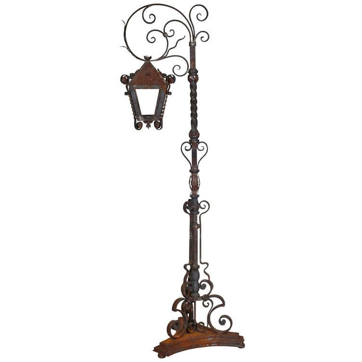 Weathered Tall Iron Lantern Stand Lighting Floors And