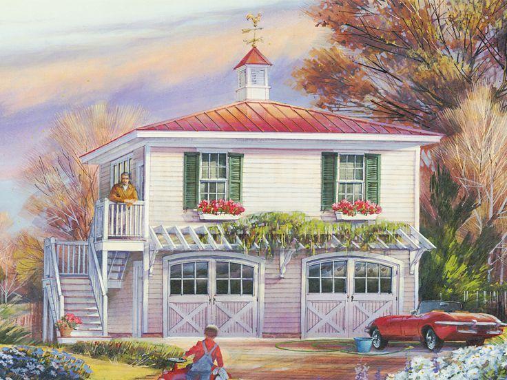 Garage Apartment Plan, 063G-0001                                                                                                                                                                                 More