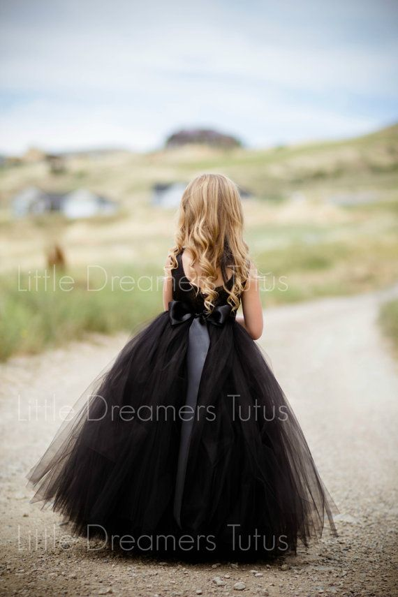 NEW The Juliet Dress in Black  Flower Girl by littledreamersinc