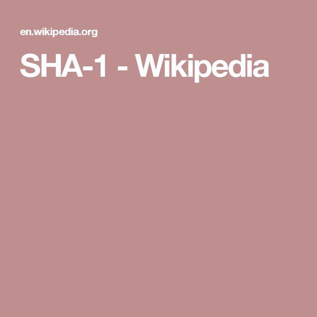 SHA-1 - Wikipedia