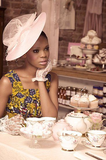 Pride Mag give African prints a high-fashion twist with vintage English styling /// Gossip Girls