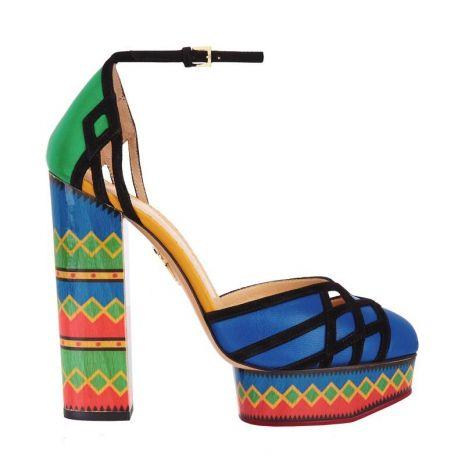 Scarpe multicolor Charlotte Olympia collezione estate 2015