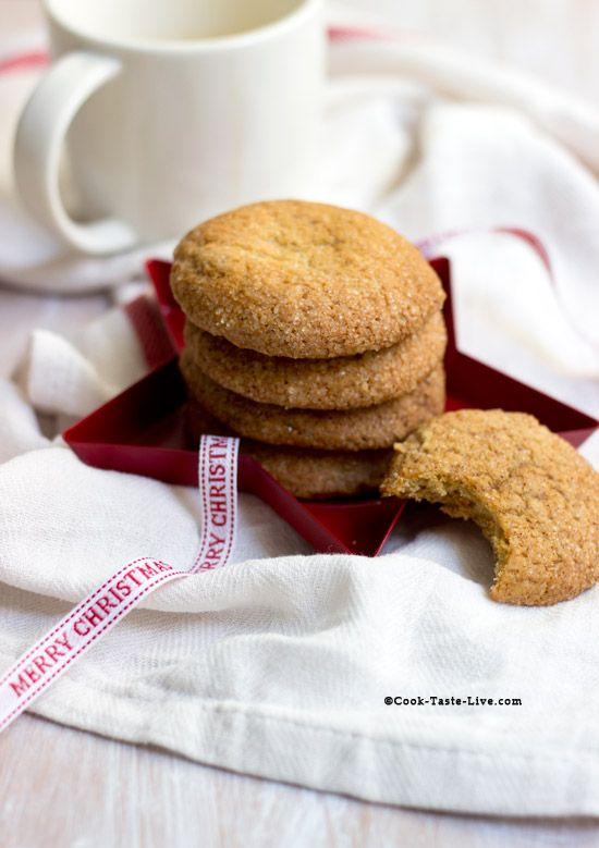 Μια εύκολη συνταγή για μαλακά cookies με τζίντζερ και μέλι. Τέλεια για τα Χριστούγεννα!