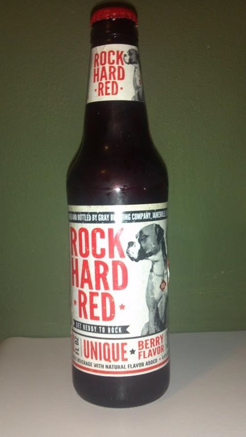 Brewed in Janesville, WI, Rock Hard Red is a malt beverage with a unique berry flavor.  Served over ice, Rock Hard Red is a great beer to try if you are looking for something different!