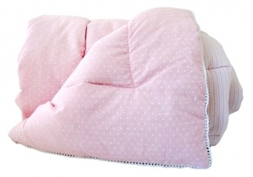 Alimrose – 100% Cotton Cot Quilt – Pink Blossom | Boutique Online Children's Store - Baby and kids clothes, swimwear, toys and more  $99.95 http://www.nellandoll.com.au/alimrose-cot-quilt-100-cotton-pink-blossom/