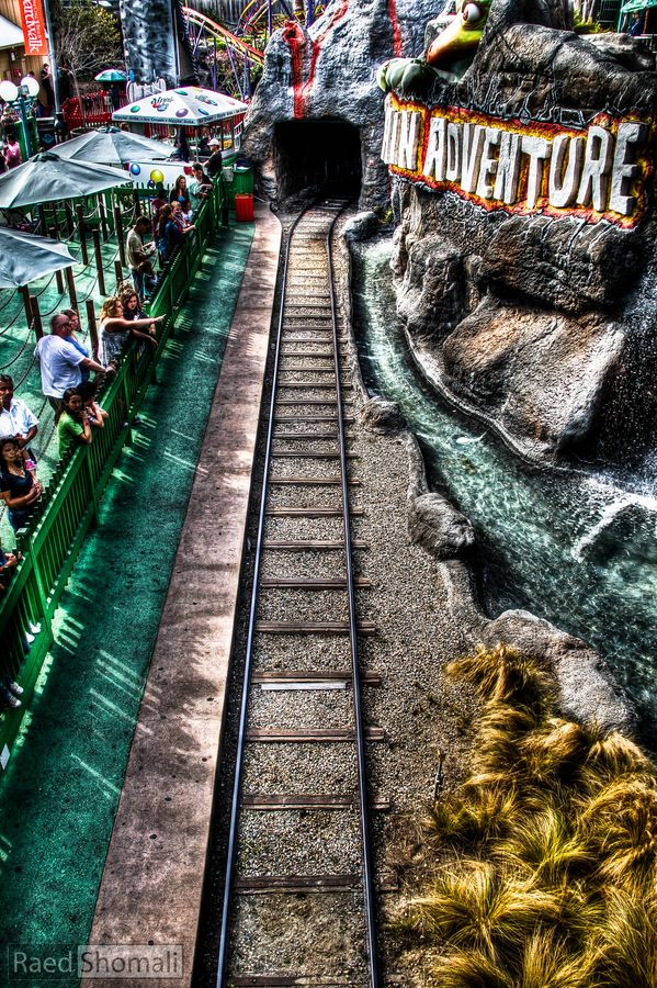 Cave Train Adventure at the Santa Cruz Beach Boardwalk, California, USA. Cool HDR photo! -ds #beachboardwalk http://beachboardwalk.com/rides