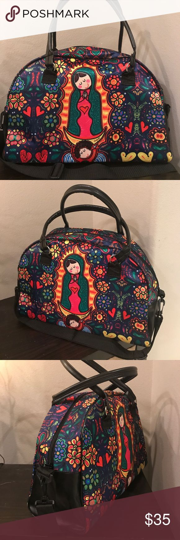 🌵New Our Lady of Guadalupe Travel Bag Duffel Bag New Travel Bag with lots of space. Features Our Lady of Guadalupe  ( la virgencita o La Virgen de Guadalupe) a Mexican must have! Perfect to carry everything you need! Made in Mexico. Printed all back, front and sides. Adjustable and detachable shoulder strap. Fully lined. Cielito Lindo Bags Travel Bags