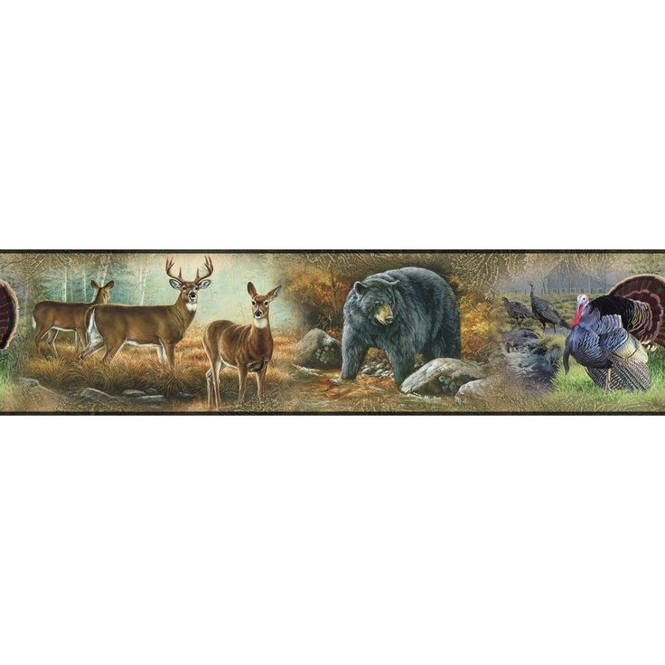 RoomMates Wildlife Medley Peel and Stick Wallpaper Border