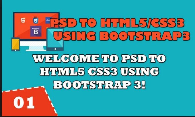 convert PSD to Responsive HTML5 CSS3 using Bootstrap 3 by mariammughal