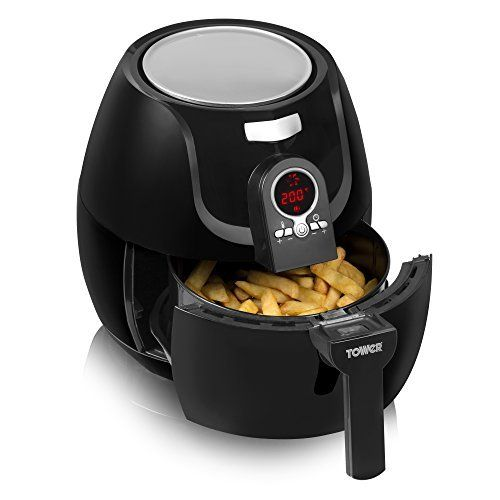 Tower T14004 Low Fat Rapid Air Fryer with Digital Timer, 1400 W, 3.2 L - Black Was:	£71.99 Deal of the Day:	£53.99 & FREE Delivery http://amzn.to/2ixYcg0