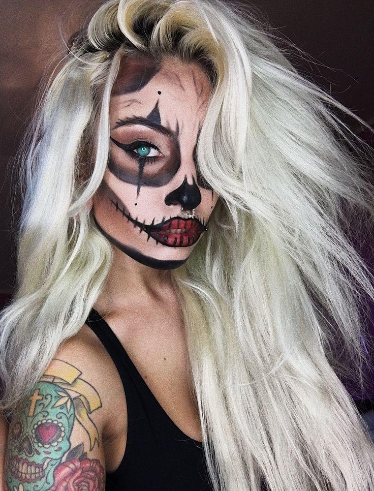 @rastalien #halloween #sexyskull #halloweenmakeup