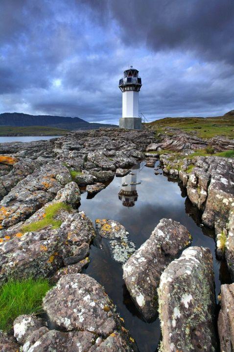 Lighthouse in Scotland, Rhue, Scottish Highlands. © Tareq M. Alhamrani: Lighthouses Naut, Lights House, Beacon Lights, Lighthouses Bliss, Highlanders Scotland, Scottish Lighthouses, Lighthouses In Scotland, Lighthouses Lights, Lighthouses Pictures