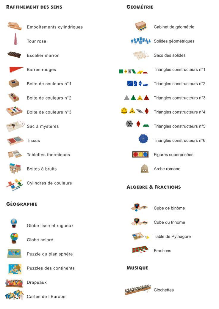Liste du matériel didactique: activités sensorielles | Classe maternelle, Gennevilliers