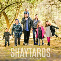 I got the shaytards 2015 calendar for Christmas!! Yay!! It didn't have any signatures but it was still so cool!!