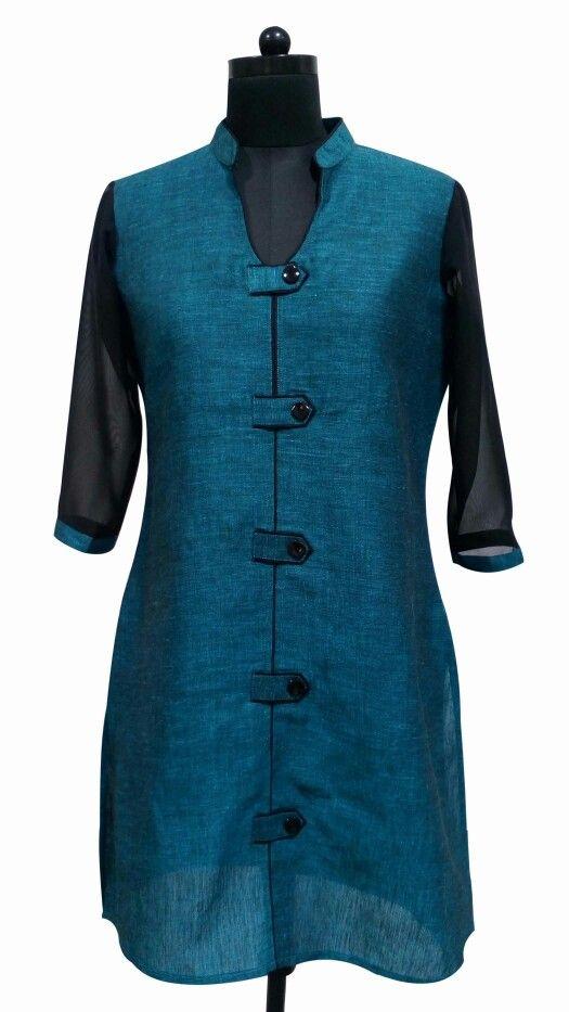 Elegant fusion of Linen & Poly Ggt casual wear by Guluzfashion