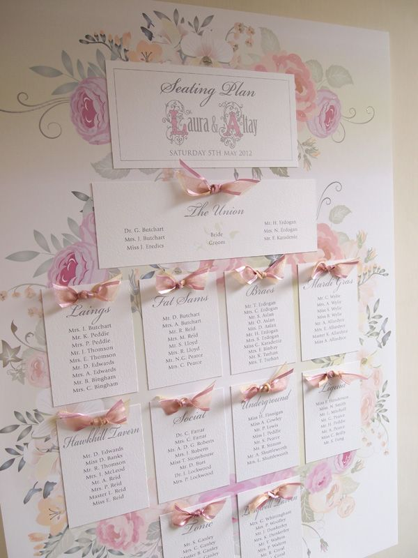 Romantic Wedding - Seating Plan in Laura design