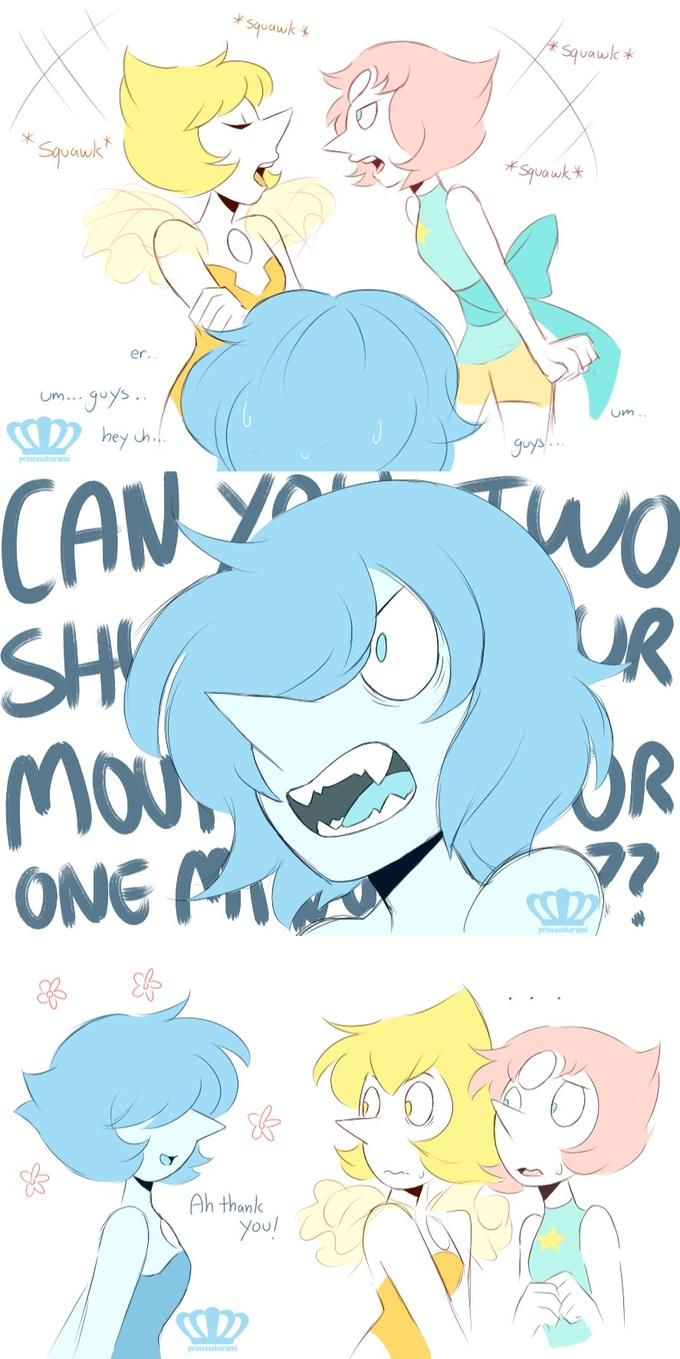 """so have my headcanon for Blue Pearl ♡"""