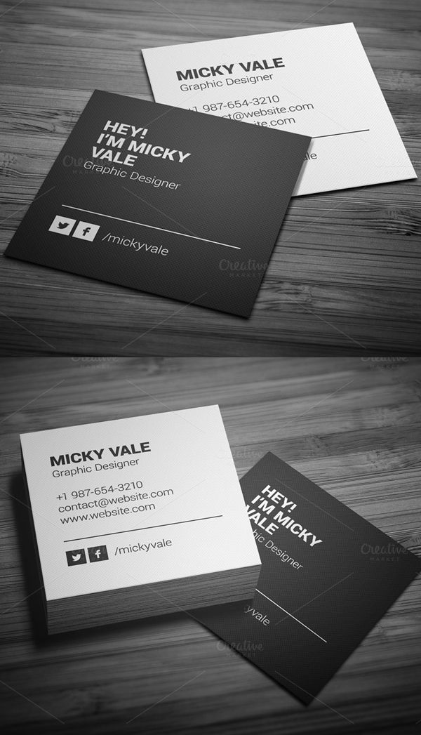 Best 25+ Square business cards ideas on Pinterest | Business cards ...