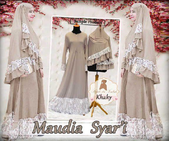 Gamis Syar'i Modern MAUDIA SYARI - http://warongmuslim.com/gamis-syari/gamis-syari-modern-maudia-syari/