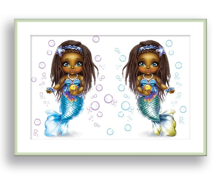 #etsy shop: Mermaid Print African American Girls Wall Art Twin Girl Nursery Decor Sisters Art Mermaid Bathroom Decor Dark Skin Girls Best Friends Art http://etsy.me/2HM8ypx #art #print #giclee #blue #mermaidart #africanamericanart #blackgirlart #babygirlnursery #twingirlnursery #Babygirlnursery #Babyboynursery #Babygirlwalldecor #Boywalldecor #Babygirlwallart #Babyboywallart #Babygirlroomdecor #Babyboyroomdecor #Nurserydecor #Kidswalldecor #Childrenroomdecor #Girlwalldecor