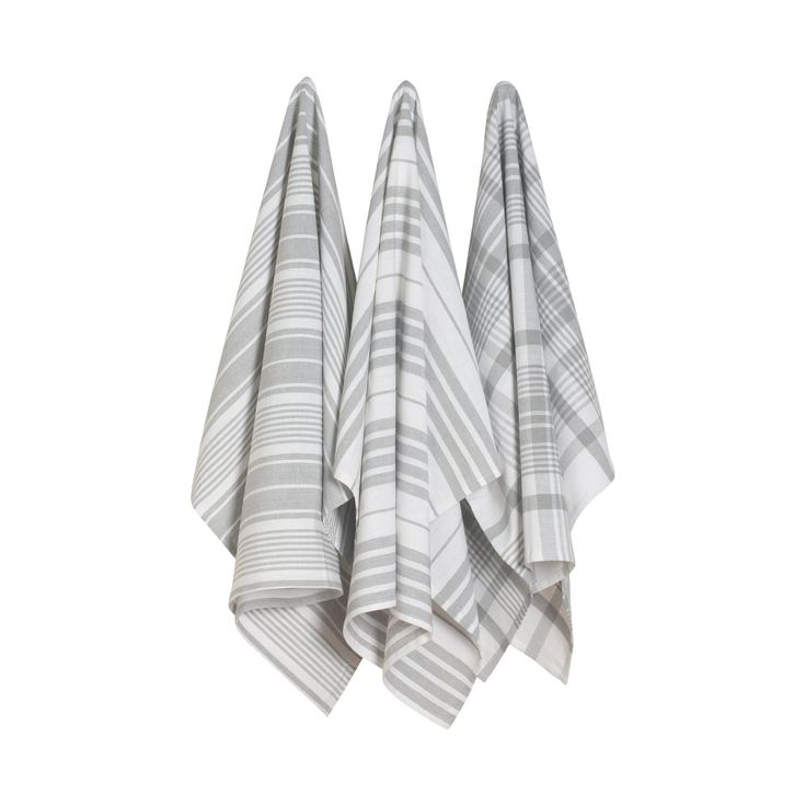 Gray Oversized Kitchen Towels - Set of 3 - Dot & Bo