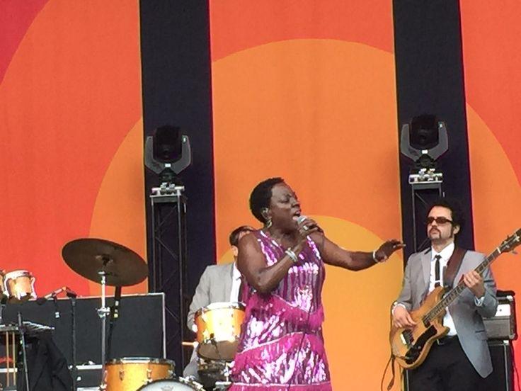 Sharon Jones and  Dap Kings, Wheels of Soul tour. Santa Barbara Bowl