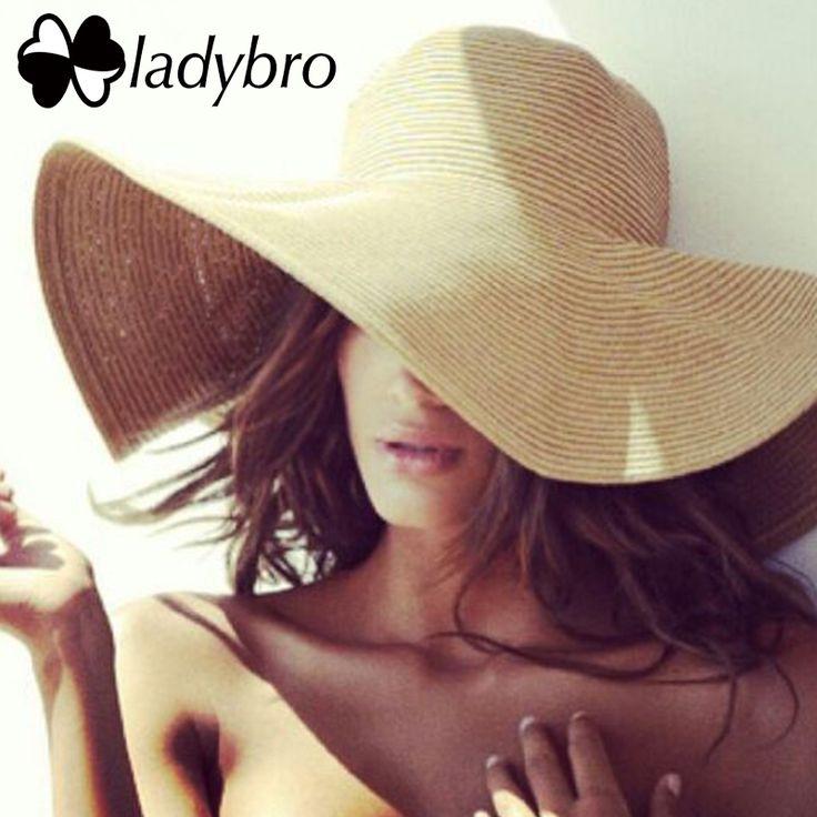 Ladybro бренд широкими полями соломенная шляпа от солнца пляжная женская шляпа летом УФ защиты путешествия крышка Дамская мода повседневная шапка женский купить на AliExpress