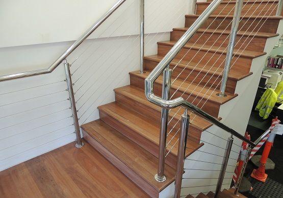 Wire balustrade.