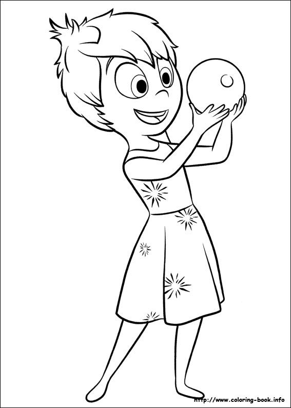 Inside Out Coloring Picture צביעה Coloring Pinterest Inside