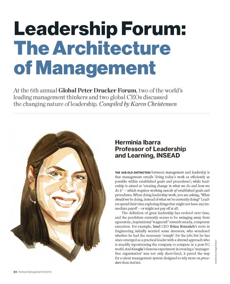 """""""Leadership Forum: The Architecture of Management"""" Rotman Management, Fall 2015"""