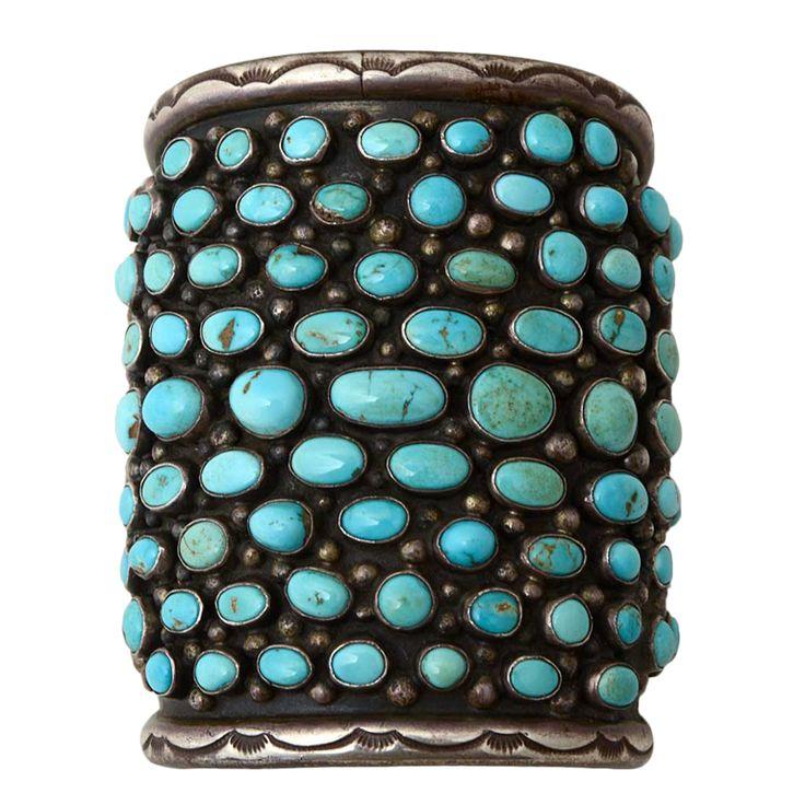 Navajo Turquoise Wide Cuff Bracelet