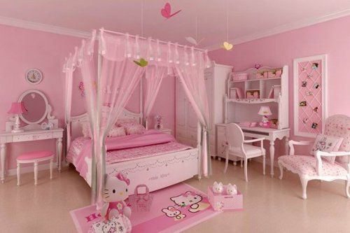 Hello Kitty Bedroom. LOVE!