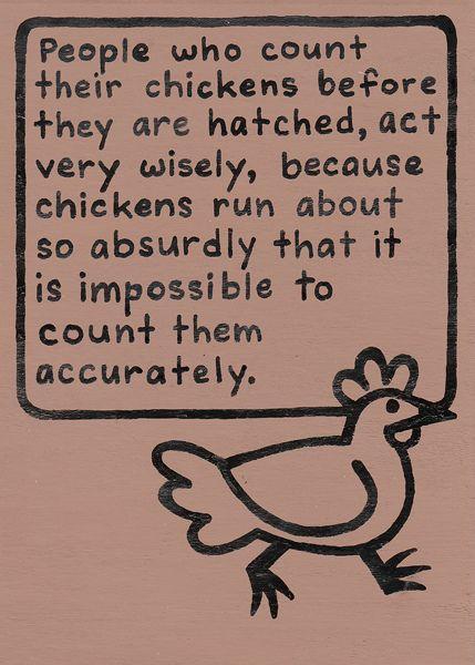 Oscar Wilde Quote: Chickens by Laura Callin Bennett, via Flickr
