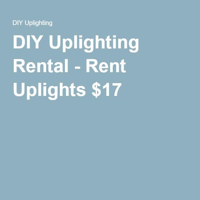 DIY Uplighting Rental - Rent Uplights $17