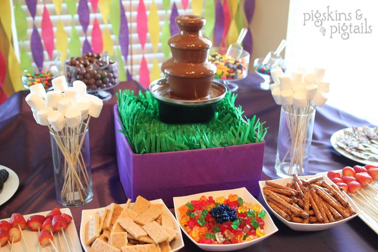 """Taylor's 5th birthday party theme was inspired by a book we read aloud together. """"Charlie and the Chocolate Factory"""" was a great read and kept her very engaged and excited each night as we read a chapter. After finishing the book, we watched the movie (the newer Johnny Depp version – it's much closer to …"""