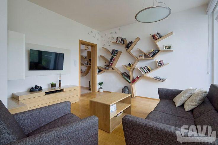 Moderní obývací pokoj inspirace - Byt Kejřův park - Favi.cz